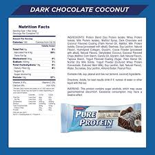 amazon pure protein bars healthy snacks to support energy low carb gluten free dark chocolate coconut 1 76 oz 12 count health personal care