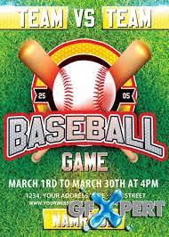 Free Baseball Flyer Template Free Baseball V2 Psd Premium Flyer Template Facebook Cover