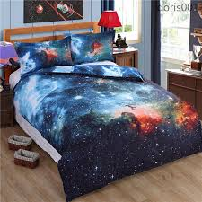thicken hipster galaxy 3d bedding set universe outer space themed duvet cover bed sheet pillow case queen size duvet covers full comfortable sets