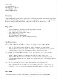 Auto Body Technician Resume Example - Kleo.beachfix.co