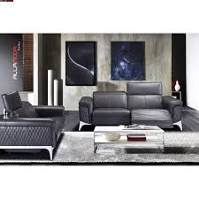 Nikko Leather Sofa Set in White Modern Furniture