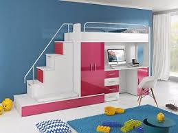 kids bunk bed with stairs. Image Is Loading KIDS-BEDROOM-CHILDREN-039-S-BUNK-BED-WITH- Kids Bunk Bed With Stairs T