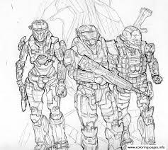 Small Picture Halo Coloring Pictures Free Download