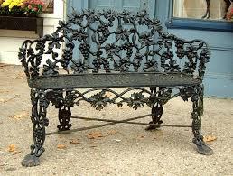 antique cast iron victorian garden lawn bench