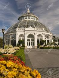 stock photo the enid a haupt conservatory at the new york botanical garden in the bronx
