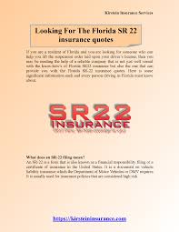 Sr22 Insurance Quotes Stunning Looking For The Florida SR 48 Insurance Quotes 48 AuthorSTREAM