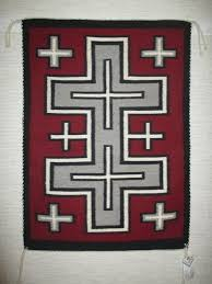 Image Storm Pattern Navajo Rug With Crosses Pattern Small Size Two Grey Hills Navajo Rug With Crosses Pattern Small Size Two Grey Hills