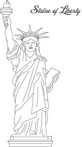 Small Picture Statue of liberty printable coloring page for kids