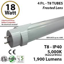 t8 led tube wiring diagram t8 image wiring diagram 18w led tube bulb 4ft t8 5000k frosted lens ballast compatible on t8 led tube wiring