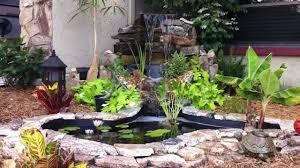 Stone Border Ponds Diy Small Backyard Ponds With Waterfall Ideas