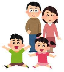 笑顔で子供を見守る親のイラスト | かわいいフリー素材集 いらすとや