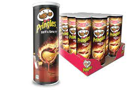 Pringles Hot & Spicy Chips Rolle 19x 200g