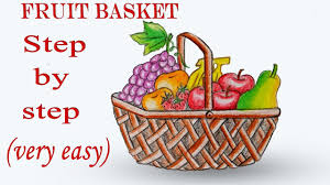 how to draw fruit basket step by step very easy