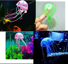 Fish Tank Accessories And Decorations Perfect Glowing Artificial Vivid Jellyfish Silicone Fish Tank 18