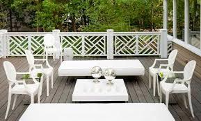 White Outdoor Furniture  Contemporary  Deckpatio  Martensen Kartell Outdoor Furniture