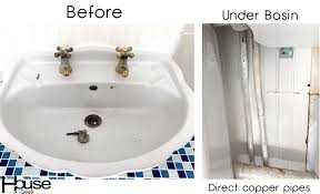 bathroom sink faucet before picture