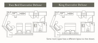 executive deluxe floor plan luxury hotel room layout98 room