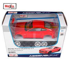<b>Maisto 1:24 2015 Ford</b> Mustang GT 5.0 Assembly DIY Diecast Model ...