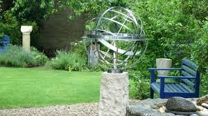 news oxford s sculpture garden hosts sundial exhibition armillary sphere antique arrow br and copper sphere armillary garden
