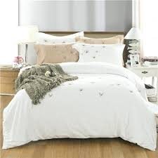 queen white duvet cover cotton soft white duvet cover set erfly embroidery bedding set queen king