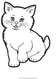 Disegno Gatto001 Animali Da Colorare