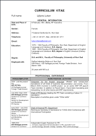 Curriculum Vitae Template Doc From Mechanical Engineering Resume
