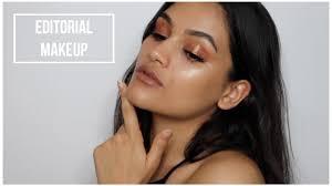 glowy editorial makeup look