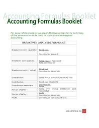 Standard Costing Formula Chart Accounting Formulas Chart Of Accounts Dr Cr Rule