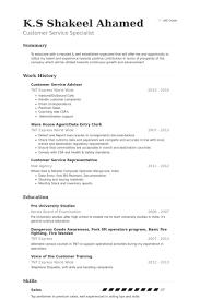 Customer Service Advisor Resume Samples Visualcv Resume Samples