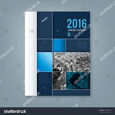 abstract blue geometric square shape design background template for business annual report book cover brochure flyer