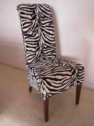 4 zebra print dining chairs set kitchen restaurant print furniture uk new ebay
