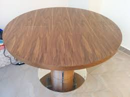 round walnut extending dining table reduced for quick