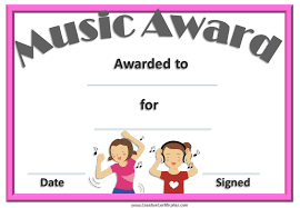 certificates of completion for kids free editable music certificate template free and customizable