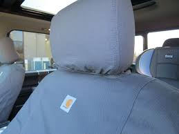 seat covers sewn with carhartt fabric