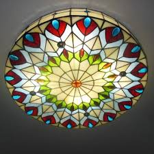stained glass ceiling light. Lovable Stained Glass Flush Mount Ceiling Light Fashion Style Tiffany Lights