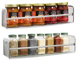 Amazon.com: DecoBros 2 Pack Wall Mount Single Tier Mesh Spice Rack, Chrome:  Kitchen & Dining