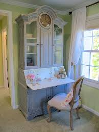 french country secretary desk used as a vanity how to style a pretty french corner