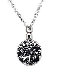 zoey jewelry tree of life cremation urn jewelry necklace pendant for ashes w funnel