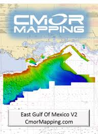 East Gulf Of Mexico V2 Cmor Card High Resolution Digital Fishing And Diving Maps And Charts Cmor Mapping