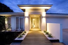 lighted front door