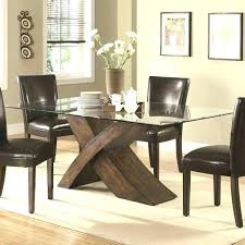 round glass wood dining table glass top dining table with wood base round table base ideas