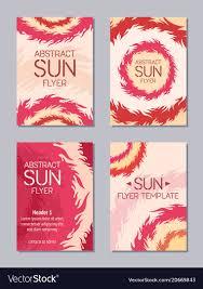 Flyers Theme Flyer Design Sun Theme