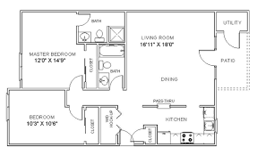 Apartment Floor Plans  Two Bedroom Apartments In Clifton Park New Apartments Floor Plans 2 Bedrooms