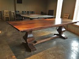 rustic elements furniture. Rustic Elements .. Solid Walnut Anchor Pedestal Table 111x42 With Satin Commercial Italian 2k Polyurethane Furniture