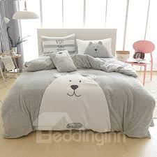 bedding sets 57 full size cartoon bear pattern grey