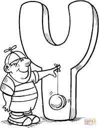 Small Picture Letter Y is for Yo Yo coloring page Free Printable Coloring Pages