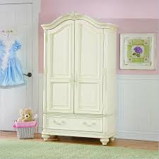 white clothing armoire
