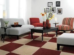 Living Room Carpet Designs Modern Living Room Carpet Black Metal Triple Stance Floor Lamp