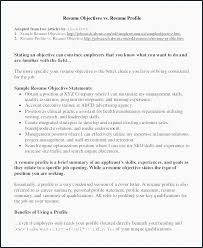 Profile Statement Examples For Resume Sample Great Resume Great