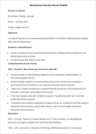 Manufacturing Resume Templates Simple Manufacturing Resume Templates 28 Free Printable Word PDF